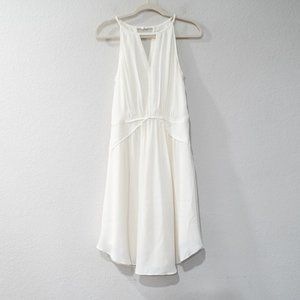 Banana Republic Chiffon Ivory Halter Dress Size 8